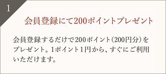 会員登録ですぐご利用いただける300ポイントプレゼント